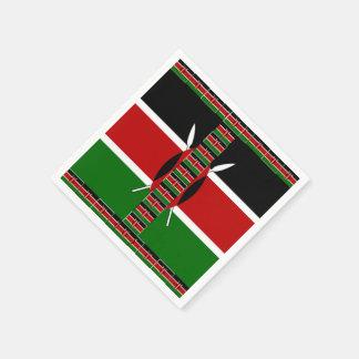 ケニヤの継ぎ目が無い旗のボーダーは紙ナプキンを組み立てます スタンダードカクテルナプキン