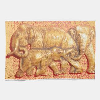 ケニヤの美しい動物のサファリ象 キッチンタオル
