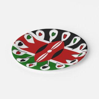 ケニヤの美しい紙皿 ペーパープレート スモール