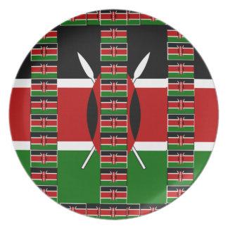 ケニヤの黒く赤い緑 皿