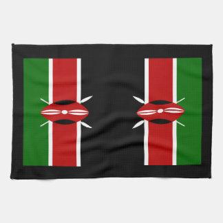 ケニヤアフリカの旗 キッチンタオル