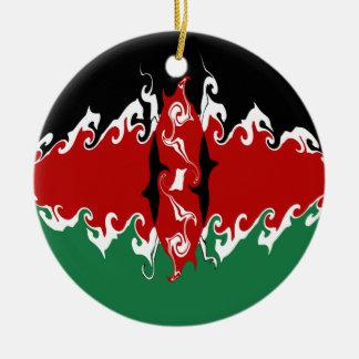 ケニヤ|すごい|旗 クリスマスツリーオーナメント