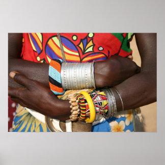 ケニヤ、アフリカのSamburuの宝石類 ポスター