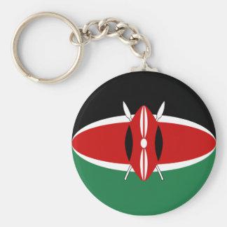 ケニヤFisheyeの旗Keychain キーホルダー