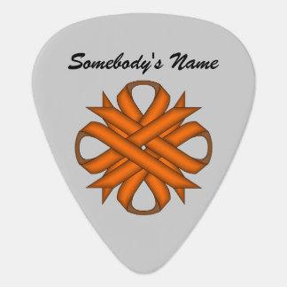 ケネスYoncich著オレンジクローバーのリボン ギターピック