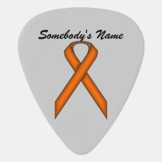 ケネスYoncich著オレンジ標準的なリボン ギターピック