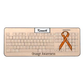 ケネスYoncich著オレンジ標準的なリボン ワイヤレスキーボード
