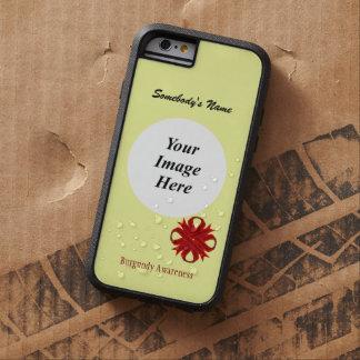 ケネスYoncich著バーガンディのクローバーのリボンTmpl Tough Xtreme iPhone 6 ケース