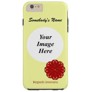 ケネスYoncich著バーガンディの花のリボンTmpl Tough iPhone 6 Plus ケース