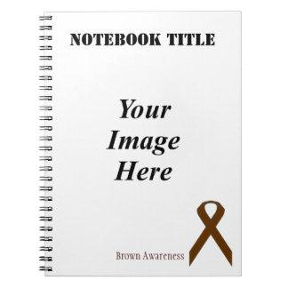 ケネスYoncich著ブラウンの標準的なリボン ノートブック