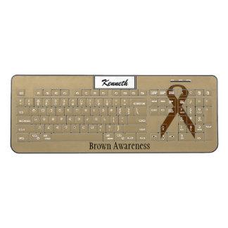 ケネスYoncich著ブラウンの標準的なリボン ワイヤレスキーボード