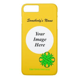 ケネスYoncich著ライムグリーンのクローバーのリボンTmpl iPhone 8 Plus/7 Plusケース