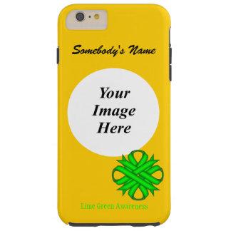 ケネスYoncich著ライムグリーンのクローバーのリボンTmpl Tough iPhone 6 Plus ケース