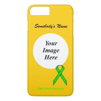 ケネスYoncich著ライムグリーンの標準的なリボンTmpl iPhone 8 Plus/7 Plusケース