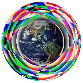 ケネスYoncich著地球の感情 磁器プレート