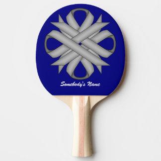 ケネスYoncich著灰色/灰色のクローバーのリボン 卓球ラケット