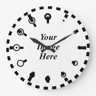 ケネスYoncich著目的の時計の/w二進Sの印 ラージ壁時計