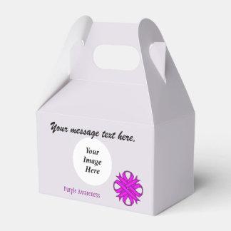 ケネスYoncich著紫色クローバーのリボンのテンプレート フェイバーボックス