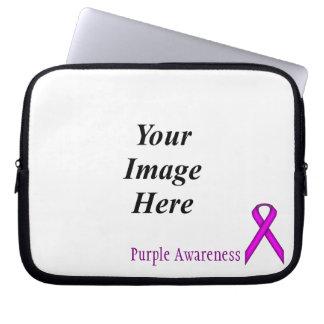 ケネスYoncich著紫色標準的なリボン ラップトップスリーブ