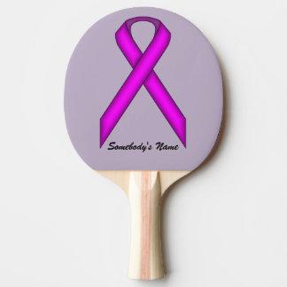 ケネスYoncich著紫色標準的なリボン 卓球ラケット