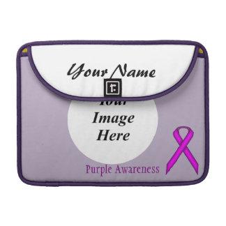 ケネスYoncich著紫色標準的なリボン MacBook Proスリーブ