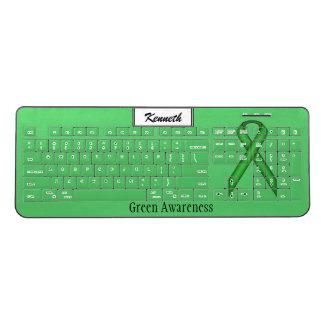 ケネスYoncich著緑標準的なリボン ワイヤレスキーボード