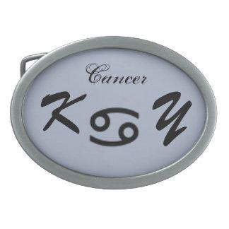 ケネスYoncich著蟹座の(占星術の)十二宮図の記号の標準 卵形バックル
