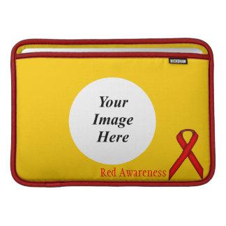 ケネスYoncich著赤い標準的なリボン MacBook スリーブ