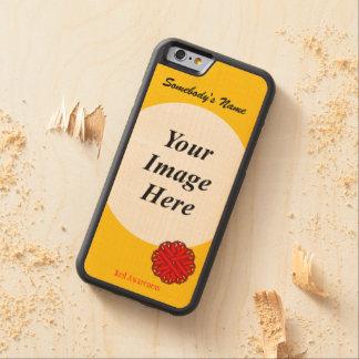 ケネスYoncich著赤い花のリボンのテンプレート CarvedメープルiPhone 6バンパーケース