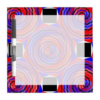 ケネスYoncich著赤く及び青の反対の螺線形 ホワイトボード
