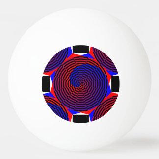 ケネスYoncich著赤く及び青の螺線形 卓球ボール
