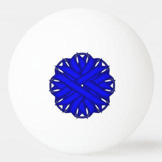 ケネスYoncich著青い花のリボン 卓球 球