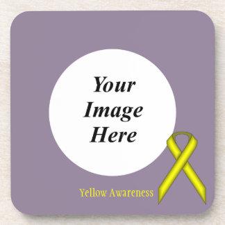 ケネスYoncich著黄色い標準的なリボン コースター