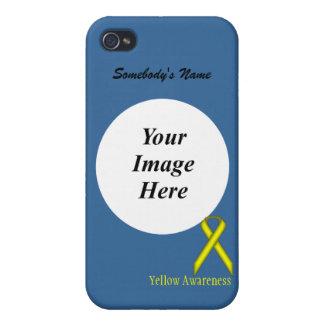 ケネスYoncich著黄色い標準的なリボン iPhone 4/4Sケース