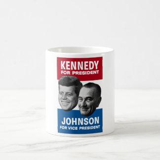 ケネディおよびジョンソンの1960年の選挙ポスター コーヒーマグカップ
