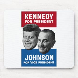 ケネディおよびジョンソンの1960年の選挙ポスター マウスパッド
