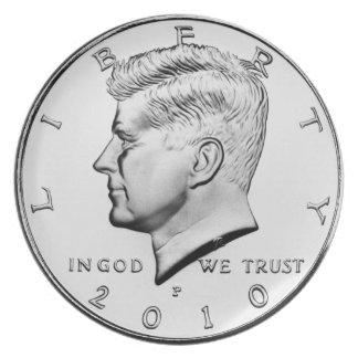 ケネディの半ドルのディナー用大皿 プレート
