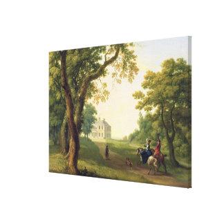 ケネディの郡ウィックロー、アイルランド1785年を取付けて下さい(油 キャンバスプリント