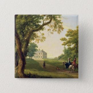 ケネディの郡ウィックロー、アイルランド1785年を取付けて下さい(油 5.1CM 正方形バッジ