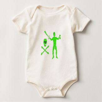 ケネディ緑のウォルター ベビーボディスーツ