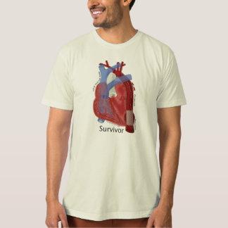 ケビンのシアバターによるオーガニックな人の綿のティー及びハートの芸術 Tシャツ