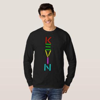 ケビンの精神の黒のLongsleeveのワイシャツ Tシャツ