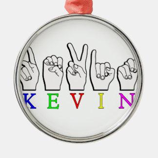 ケビン指は一流の印を綴りました メタルオーナメント