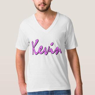 ケビン(白のピンク) Tシャツ