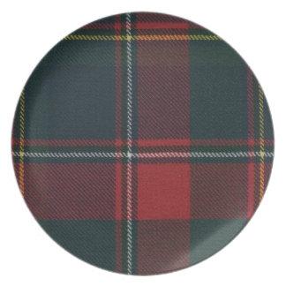 ケベックのタータンチェックのメラミンディナー用大皿 プレート