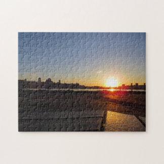ケベックのパズル上の日没 ジグソーパズル