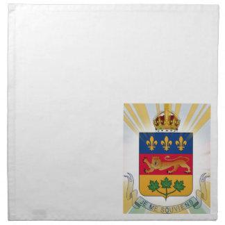 ケベックの紋章付き外衣 ナプキンクロス