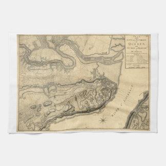 ケベックカナダ(1776年)の地域の地図 キッチンタオル