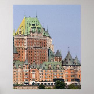 ケベック、カナダの館Frontenac ポスター