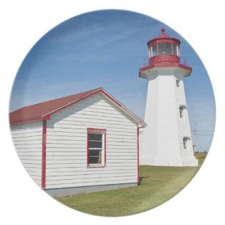 ケベック、カナダ。 帽子のD'Espoirの灯台 プレート